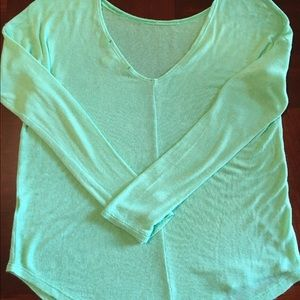 Scoop Neck & Open Back Mint Green Sweater